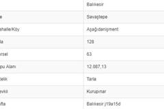 BALIKESİR SAVAŞTEPE AŞAĞI DANİŞMENTTE 12.087 M2 TARLA