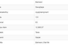 BALIKESİR SAVAŞTEPE AŞAĞI DANİŞMENTTE 12.865 M2 TARLA
